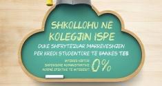 FINANCO STUDIMET TUAJA DUKE MARR KREDI STUDENTORE NË BANKEN TEB